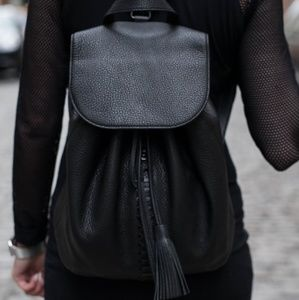 Rebecca Minkoff Black Leather Moto Backpack